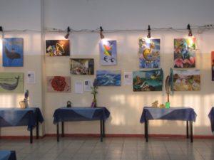 תערוכת ציור – עבודות גמר בית ספר שבח מופת – 2013