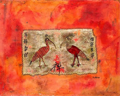 Feng Shui  two birds paint