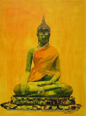 Sitting Buddha paint
