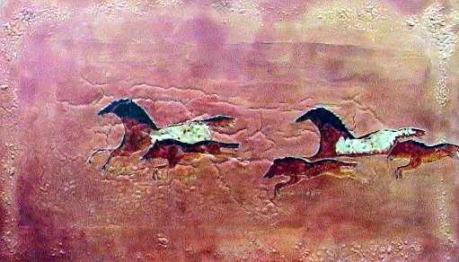 Prehistoric horses paint no.3