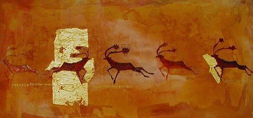 Prehistoric painting of reindeer from the Altamira Cave no. 2