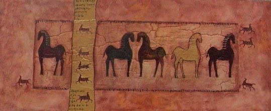 Prehistoric horse paint no. 3