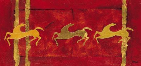 Prehistoric horses paint no. 2