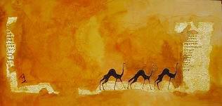 Prehistoric camels paint
