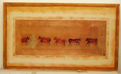 Prehistoric painting of Bulls from the Altamira Cave